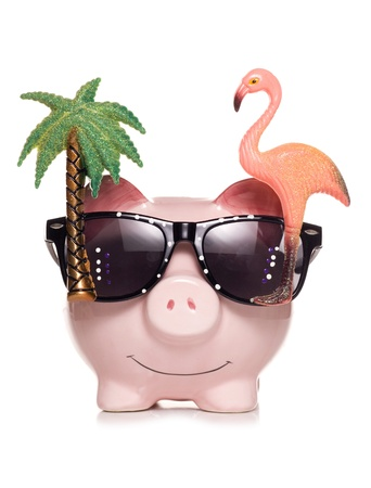 saving for retirement piggy bank studio cut out photo