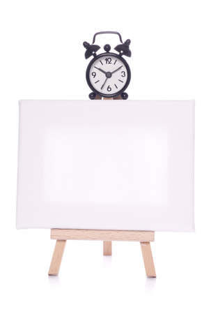 Blank canvas with time studio cutout photo