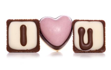 スタジオ カットアウトでチョコレートを愛する 写真素材 - 20297910