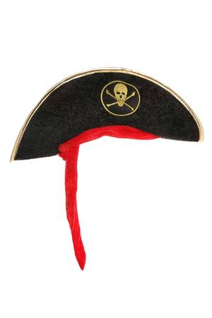 Piraten-Kostüm Hut Studio Ausschnitt Standard-Bild