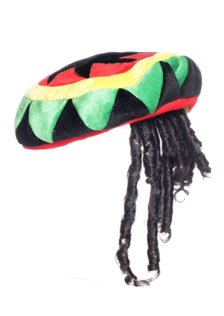 Reggea jamaicano rasta sombrero recorte del estudio Foto de archivo