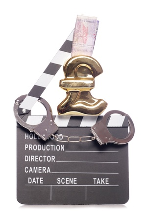 Piracy in the film industry costing money cutout photo