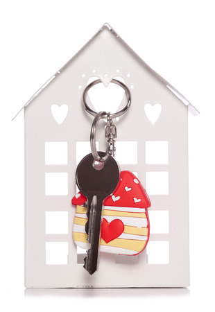 love home keyring and door key studio cutout photo