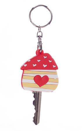 doorkey: House key with heart protector studio cutout