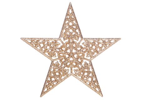 gold star christmas decoration cutout stock photo picture and