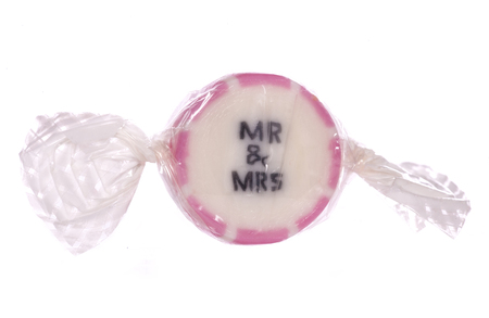mr: Mr and mrs pink sweet cutout