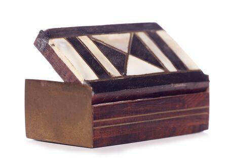tabaco: esmalte de la vendimia caja de tabaco recorte