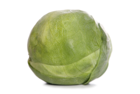 brussel: single brussel sprout studio cutout Stock Photo