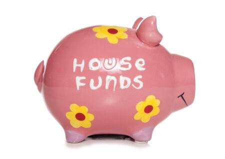 house funds piggy bank cutout photo