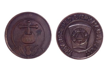 masonic: Masonic coin number 228 cutout