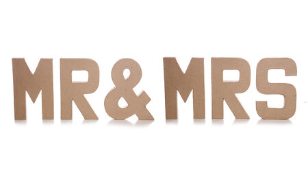 mr and mrs: mr & mrs decoupage letters cutout