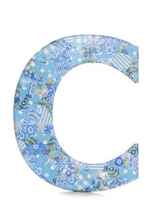 decoupage: Letter C decoupage studio cutout Stock Photo