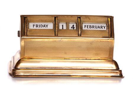 Friday 14th February perpetual calendar cutout photo