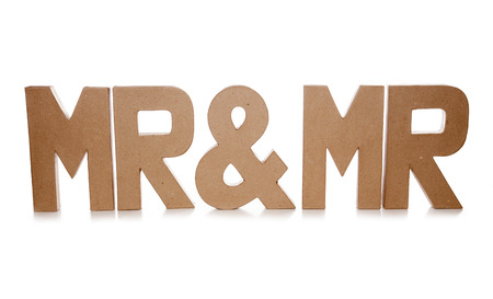 mr: mr and mr decoupage letter cutout