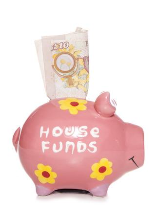 House funds savings piggy bank cutout photo
