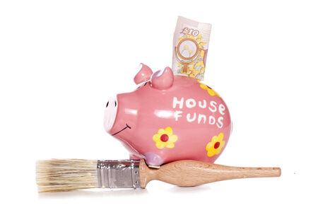 DIY house funds of piggy bank photo