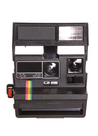 レトロなポラロイド カメラ スタジオ カットアウト