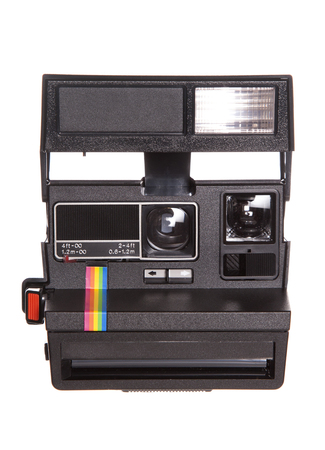 Retro polaroid camera studio cutout