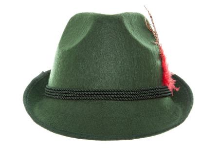 ババリア地方の緑の帽子スタジオ カットアウト 写真素材