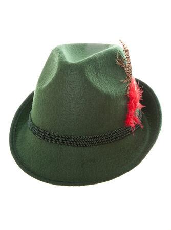 db67f2d9234 Green Bavarian Hat Studio Cutout Stock Photo
