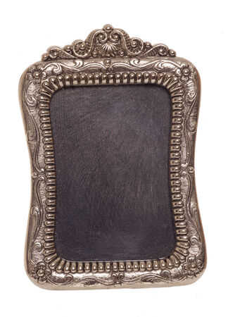 silver frame: decorative vintage silver picture frame studio cutout