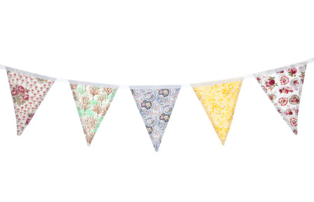 vintage floral bunting studio cutout Stock Photo