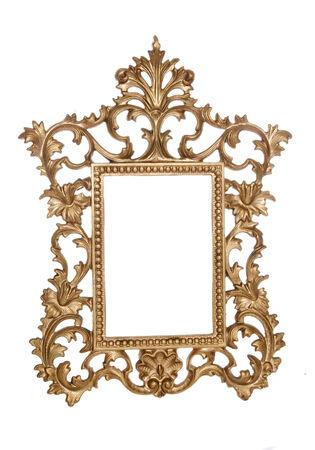 cutout: Gold vintage picture frame studio cutout