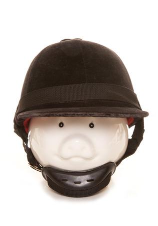 riding helmet: hucha vistiendo equitaci�n recorte casco