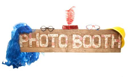 素朴な花写真ブース記号カットアウト 写真素材