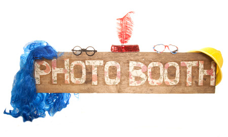 rustic floral photo booth sign cutout