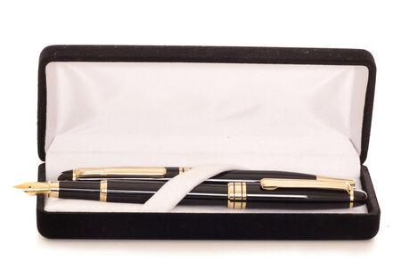 ケース スタジオ素材で 2 つのペン 写真素材