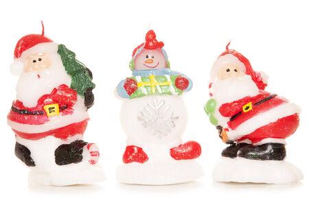 velas de navidad: tres velas de Navidad recorte de estudio