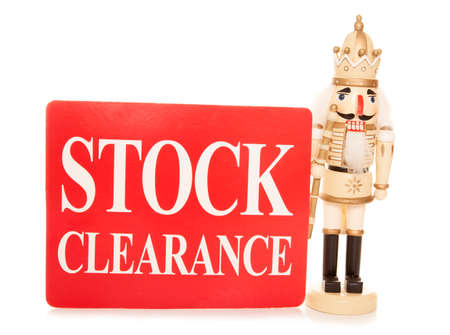 christmas stock clearance sign cutout stock photo 33677263
