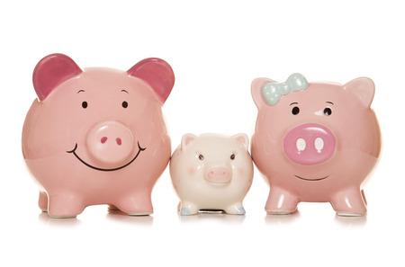 saving for the future piggybanks cutout