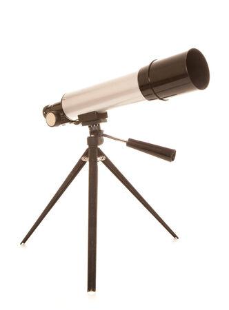 gazer: childs silver toy telescope cutout