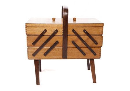 sewing box: Retro wooden Sewing box cutout