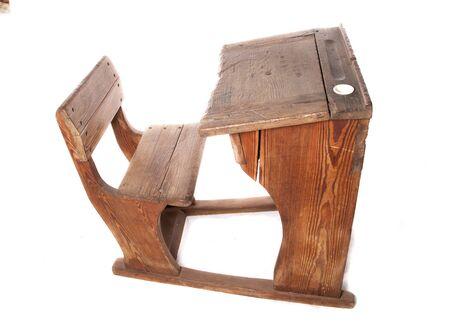 school desk: vintage school desk studio cutout