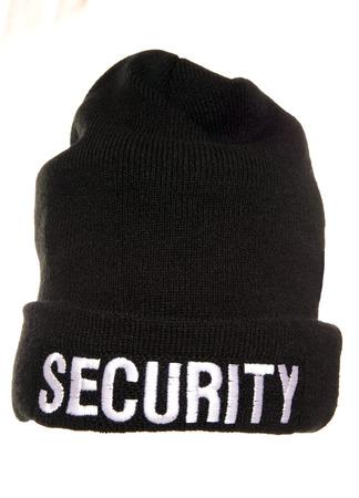cutout: security beenie hat studio cutout Stock Photo