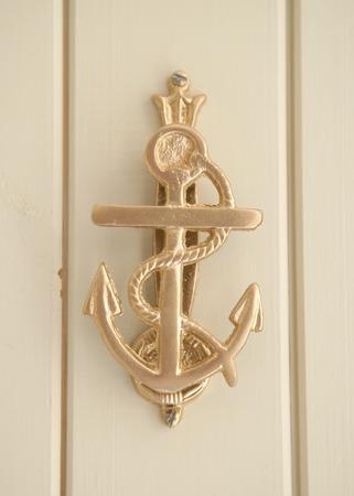 Merveilleux Brass Anchor Door Knocker Abstract Stock Photo   36350794