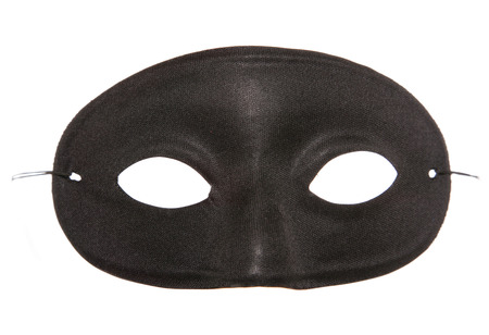 fancy dress party: black masquerade party mask cutout Stock Photo