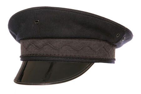 fancy dress: black chauffeur fancy dress hat cutout
