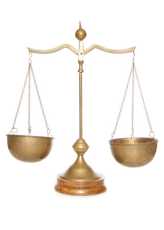 weighing scales: vintage brass weighing scales cutout