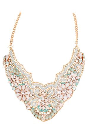 cutout: vintage style costume jewellery necklace cutout
