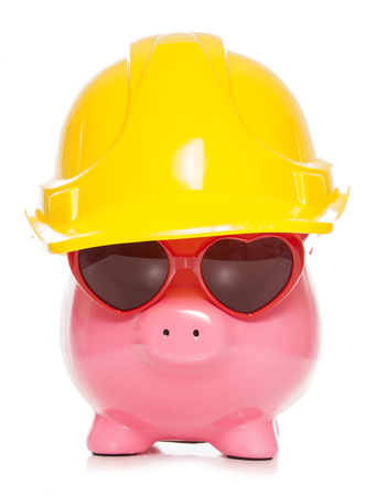 honest: honest caring builder piggy bank cutout