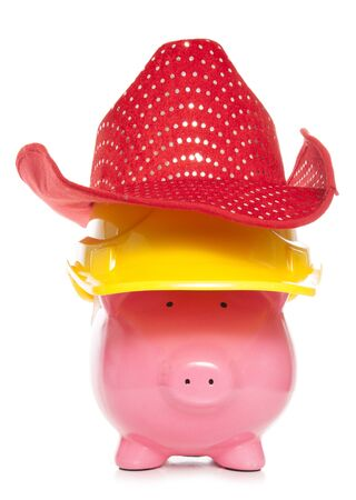 cutout: cowboy builder piggy bank cutout