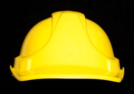 hard hat: builders hard hat studio cutout Stock Photo