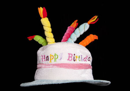 fancy dress: happy birthday fancy dress hat cutout Stock Photo