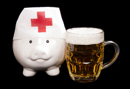 health care funding: cost of alcohol abuse on healthcare system cutout