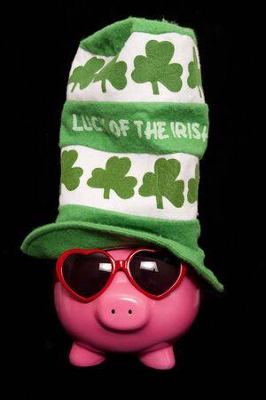cutout: luck of the irish piggy bank cutout