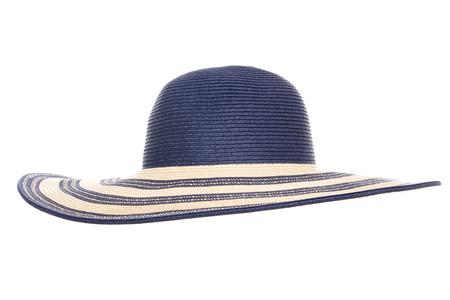 cutout: blue summer sun hat cutout Stock Photo